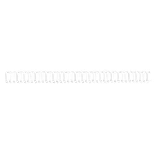 Espirales de encuadernación de alambre Espirales Bobinas para calendario Cuaderno de encuadernación de hierro 100PCS A4 Tamaño 34 Dientes 3: 1 Doble bucle(#5)