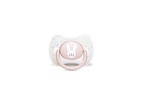 Suavinex 306600 Succhietto con Tettina Simmetrica in Silicone, Da 0 a 6 mesi, Hygge Colore Rosa - 30 g