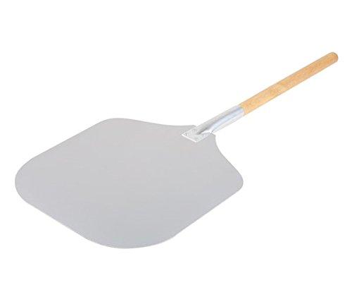 Preisvergleich Produktbild Große Pizzaschaufel aus Holz und Aluminium,  zwei Größen wählbar / Länge: 90 oder 130 cm / SUN (A1 - Länge: 90 cm)