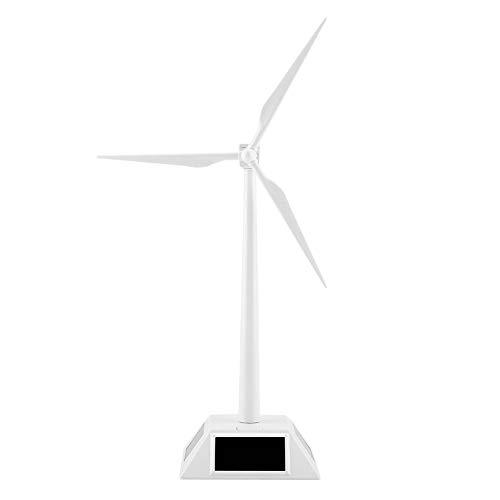 Solar Powered 3D Windmühle aufgebautes Modell Craft Kinder Kinder Bildung Lernen Spaß Spielzeug Geschenk ABS-Kunststoffe Wind Turbine Weiß für Home Desktop Decor Garten Ornament