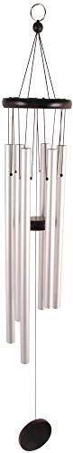 Esschert Design WV12 Carillon éolien M Argenté 12,5 x 12,7 x 77 cm