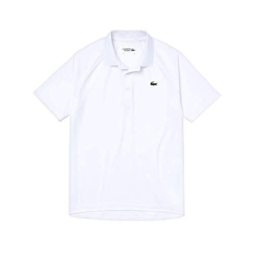 Lacoste Herren DH3201 Polo Shirt Kurzarm, Männer Polo-Hemd,3 Knopf,Regular Fit,Weiß,4