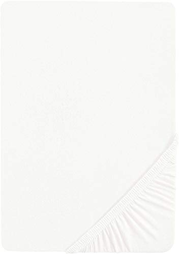 Castell 77113/018/087 - Sábana bajera ajustable elástica para cama, Blanco, 90 x 190 cm