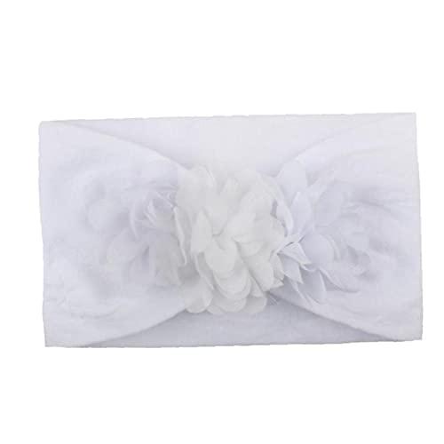 Bebé Turbante Diadema Bebé Niña Diademas Lindo Cómodo Lindo Bebé Headwrap Princesa Accesorios para El Cabello Blanco
