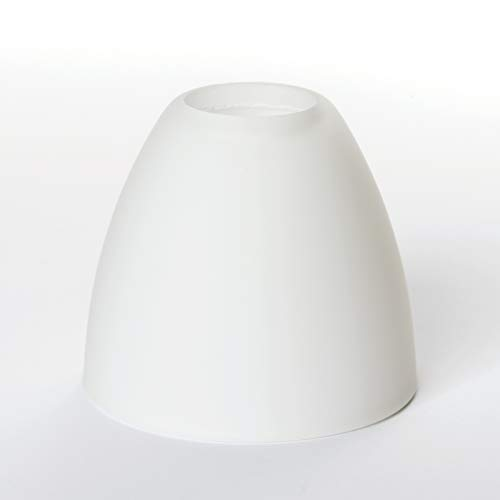 Glas Lampenschirm Ersatzglas weiß G9 Lochmaß Fassung ø 22mm Kegel