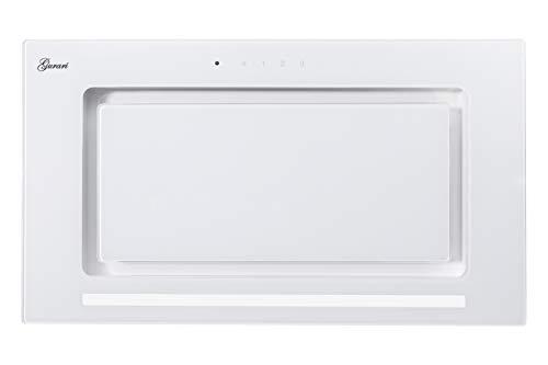 Gurari 217 Einbau Dunstabzugshaube,Lüfterbaustein,Deckenhaube 52cm,Rahmen & Frontblende in Weiß Glas,Einbauhaube,3 Stufen, 1000m³/h,Einbauhaube,Ablufthaube,Umlufthaube, 6 Watt LED,Fernbedienung