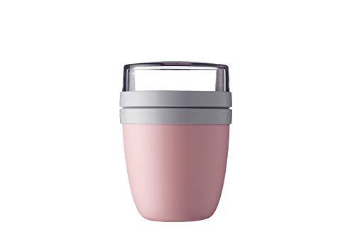 Mepal Lunchpot Ellipse Nordic pink – 500 ml praktischer Müslibecher, Joghurtbecher, to go Becher – Geeignet für Tiefkühler, Mikrowelle und Spülmaschine, Polypropyleen (PP), PCTG, 10.7 cm