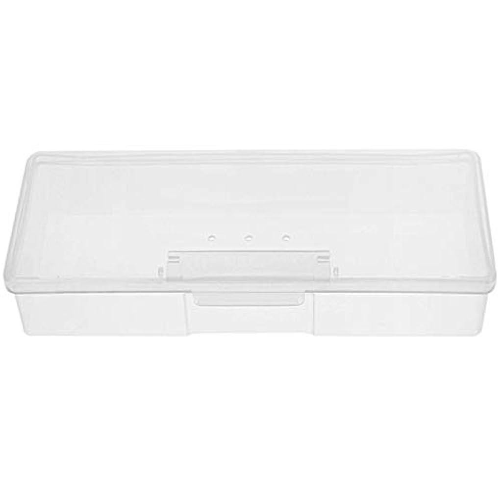 請負業者コントロールラベンダーTOOGOO マニキュア用白いプラスチック透明ネイルツール収納ボックスネイルラインストーン装飾バッファファイル研削オーガナイザーケースツール