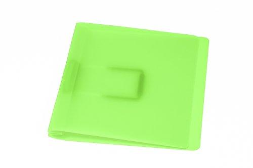 Schnellhefter, grün mit flacher, elastischer Schlauchheftung