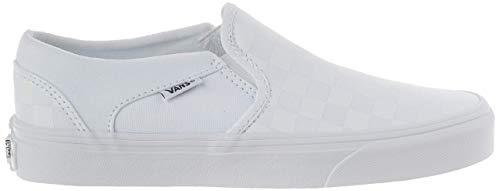 Vans Damen WM Asher Slip On Sneaker, Weiß ((Checkerboard) White/White W51), 39 EU