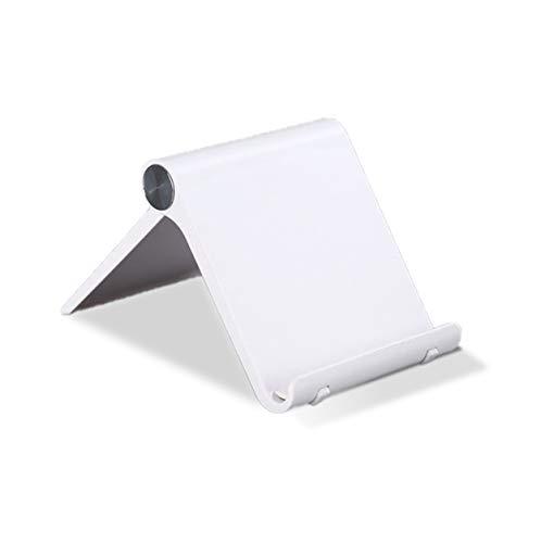 """Nuevo Soporte Universal Reforzado Ajustable para Móvil, Lector Libros Electrónico, Tablet 4""""-10.4"""" Multiángulo 0-100 grados,Diseño de Mesa,Apple (Iphone-Ipad) Samsung Huawei Xiaomi (Color Blanco )"""