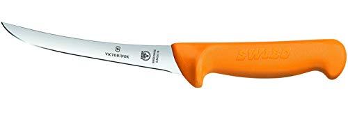 Victorinox Küchenmesser Swibo Ausbeinmesser Normaler Schliff halb-Flex gelb 13 cm Klingenlänge, 5.8404