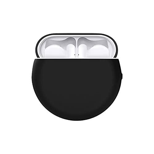 ELYCO Silikon Hülle kompatibel mit Huawei Freebuds 4, Stoßfeste & Staub Schutzhülle, Ultra-Thin Soft Silicone Hülle, Unterstützt Kabelloses Laden Hochwertige Silikonhülle [Schwarz]