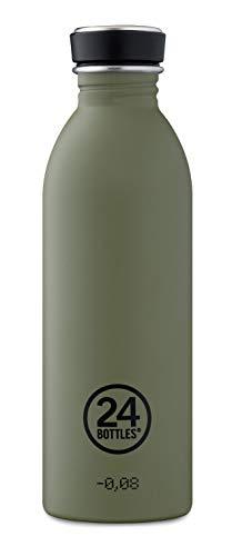 24 bottles Trinkflasche Stone Sage grün/Khaki 500ml