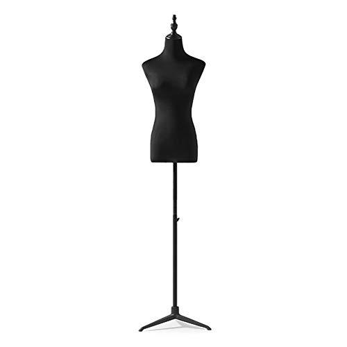 ZXL Halbkörper-Schaufensterpuppe für Display Brautkleid, Weibliche Kleid Form mit Schwarzer Verstellbarer Stativbasis, Leicht Zusammenzubauen (Color : Without arms, Size : S)