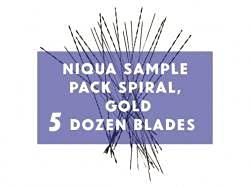 Niqua Scroll Sample Pack Spiral Gold - Blades shopping Dozen 5 Ranking TOP20