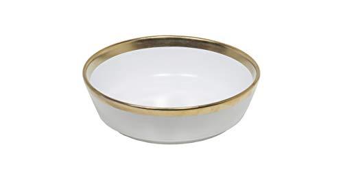 Set de 4 boles grandes d18,5 h6cm golden white