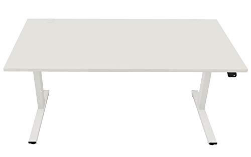 OKA EasyUp elektrisch höhenverstellbarer Schreibtisch (Weiß)