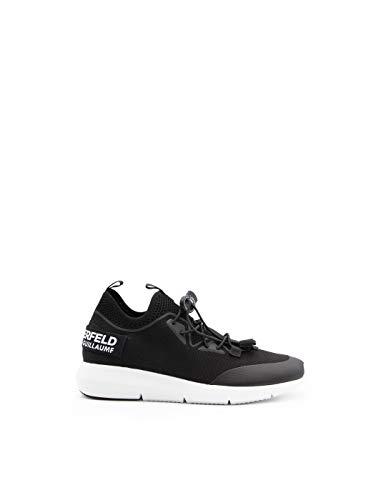 KARL LAGERFELD Vitesse Chaussures en tissu stretch avec cordon de serrage Noir - Noir - Noir , 38 EU EU