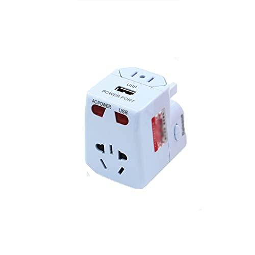 Adaptador de corriente internacional International Power Adaptter Travel Plug - 2 puertos USB, trabajo universal para 150 países para el Reino Unido Japón China Europa Europa Europa Convertidores de e
