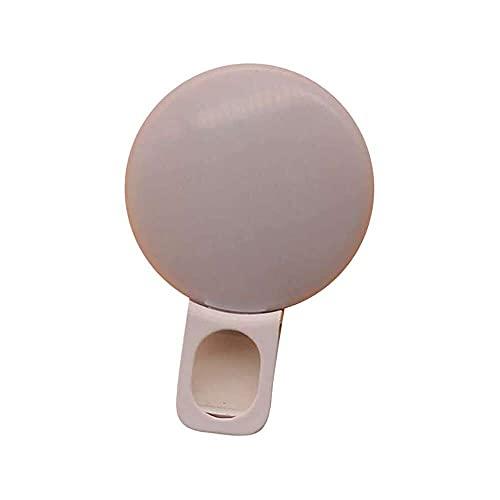 qiaohuan shop Selfie Anillo Luz para Teléfono Inteligente/Tablet Cámara Portátil Clip Llene Forma Redonda