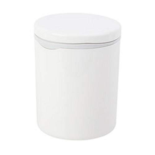 VREF Papelera de Cubo de Basura Interior Estilo Minimalista japonés Sala de Estar Cocina Escritorio Bote de Basura Creativo Mini con Tapa Glándula Papelera pequeña Cubo de Basura Cubo de Basura