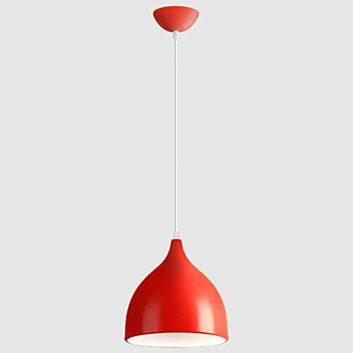 CSSYKV Araña De Copa De Vino Luz Colgante De Metal Creativa Accesorio De Iluminación Colgante Moderno Anaranjado De La Decoración De La Barra del Restaurante E27 Araña Industrial