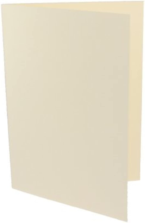 100 Doppelkarten DIN Lang ( DL ) creme B003KVUPCE   | Kostengünstig