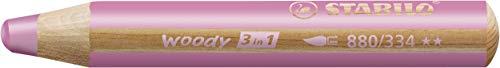 Buntstift, Wasserfarbe & Wachsmalkreide - STABILO woody 3 in 1 - Einzelstift - pink