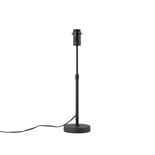 QAZQA - Modern Tischleuchte | Tischlampe | Lampe | Leuchte schwarz verstellbar - Parte | Schlafzimmer | Nachttischleuchte - Metall Länglich - LED geeignet E27