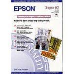 Epson S041352 WaterColor Paper - Radiant White, DIN-A3+, 188g/m², 20 Blatt