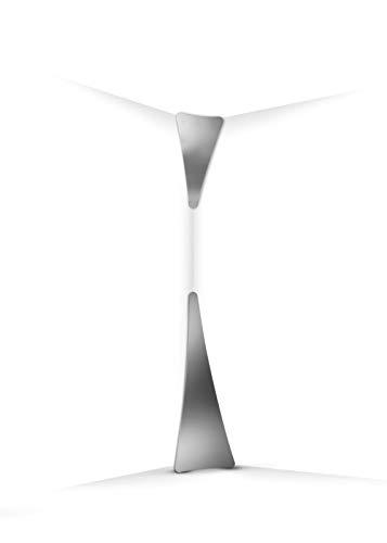 Slamp Stehleuchte/Slamp-Leuchten Punctum in Spiegel | Handgefertigt in Italien | Stehlampe Modern silber | Lampe LED