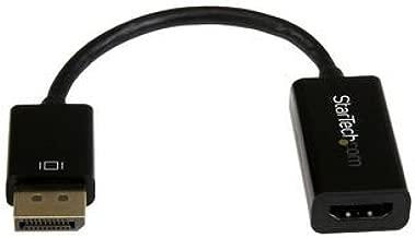 StarTech.com DP2HD4KS - Conversor de vídeo (DisplayPort a HDMI con Audio, Adaptador Activo DP 1.2, 30Hz)
