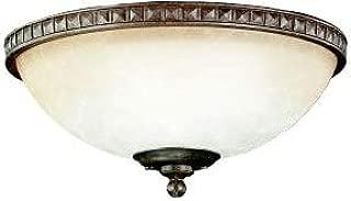 Kichler 380007TZ Cortez Bowl Light Fixture Kit, Tannery Bronze