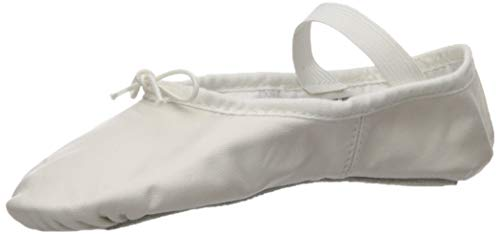Bloch Women's Dansoft Full Sole Leather Ballet Slipper/Shoe, White, 6.5 Medium