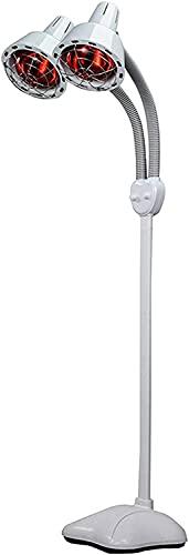 HTDHS Instrumento Multifuncional de Fisioterapia de Infrarrojos con la lámpara de Terapia Auxiliar de Temperatura Ajustable de Doble Cabezal para aliviar el Dolor Corporal