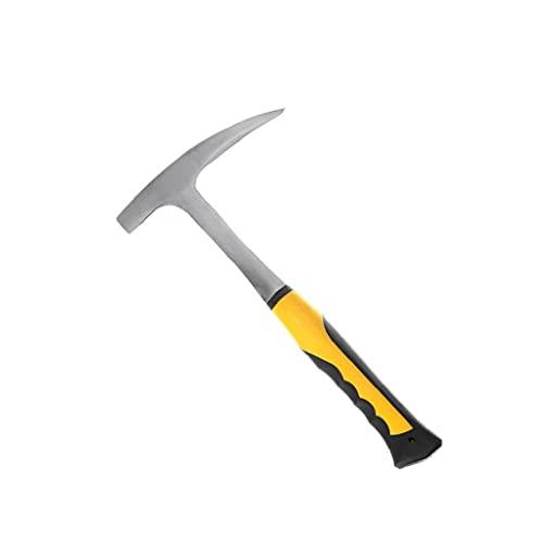 Hammer Geological Hammer Rock Pick Martillo de ladrillo con punta puntiaguda para la exploración mineral Geología Herramienta de mano pequeña Primera y duradera