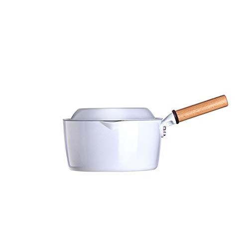 SMEJS Olla de Leche Blanca, Olla de gachas de 16 cm, Olla de Metal doméstica, sartén, Olla de Tortilla, Olla de Sopa
