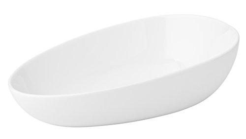 Utopia Z07019 en porcelaine fine Origin Plat, 27,9 cm, 28 cm, 34.75 G, 99 cl, Anton Noir (Lot de 6)