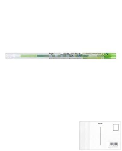 三菱鉛筆 スタイルフィット ディズニー ゲルインクボールペンリフィル 0.38mm ライムグリーン UMR129DS38.5 【5本】 + 画材屋ドットコム ポストカードA