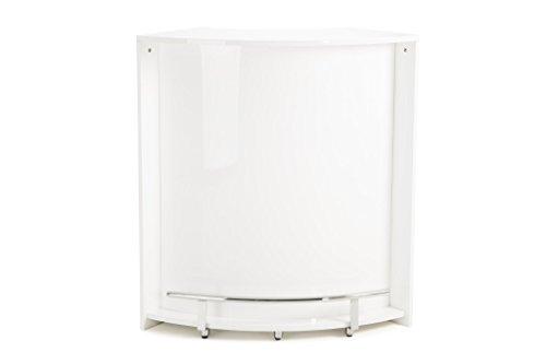 Soliving Fizz Bar, MDF, Blanc, 97 x 45 x 105 cm