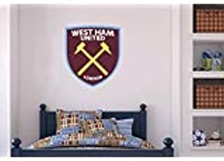 Official West Ham United Football Club - Hammers Crest + Wall Sticker Set Decal Vinyl Poster Print Mural (60cm Height)