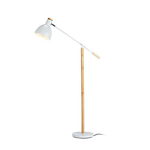 GWXSST Lámpara de pie de Estilo japonés Moderno Simple Creativo Nueva decoración de Madera Maciza Estudio Dormitorio Sala de Estar Lámpara China Zen