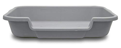 PuppyGoHere Dog Litter Pan Misty Gray Color, Size: 24