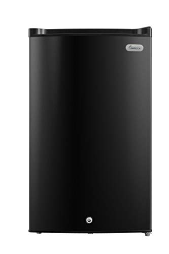 Impecca Upright Freezer 30 Cubic Feet Rapid Cooling Compact Freezer with Key Lock Reversible Door Adjustable Thermostat Removable Storage Basket Energy Star - Black