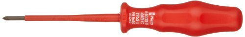 Wera 05031249001 Kraftform Classic VDE 1762i Phillips Insulated Screwdriver, PH 0 Head, 81mm Blade Length
