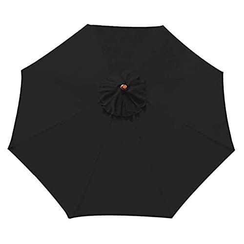 GeKLok Toldo de repuesto para paraguas, impermeable, duradero, de repuesto, para patio, para mesa de mercado, para patio (negro, tamaño: 118 pulgadas)