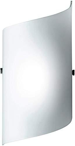 Honsel Leuchten 33391 Honsel Wandleuchte mattnickel Glas weiß matt
