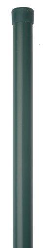 GAH-Alberts 617486 Zaunpfosten für Fix-Clip pro | für die Befestigung mit Einschlag-Bodenhülsen | zinkphosphatiert, grün kunststoffbeschichtet | Länge 1225 mm | Schellen-Ø 34 mm