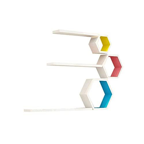 LYQQQQ Kit de Montaje en Pared Flotante de la combinación de Bricolaje,Gerente de Almacenamiento de la casa de la exhibición de Madera Blanca